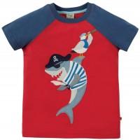 T-Shirt Hai Aufnäher rot