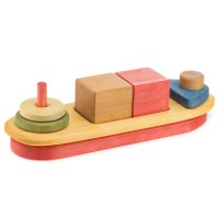 Holzboot für kreative Spiele ab 2 Jahren