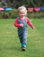Vorschau: Bio Baby Body dicker pink Punkte