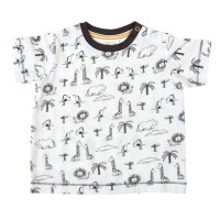 Leichtes T-Shirt moderner All-Over-Print Zoo