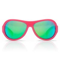 Vorschau: Kinder Sonnenbrille 3-7 bruchfest Blätter Print pink