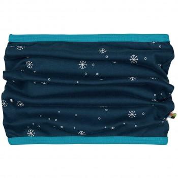 Warmer Schlauchschal Schneeflocken in dunkelblau