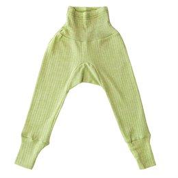 Baumwolle Wolle Seide Leggings grün meliert