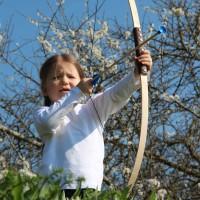 Holzbogen Junior mit 3 Saugpfeilen