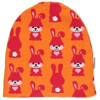 Gefütterte warme Beanie Mütze elastisch doppellagig Hase