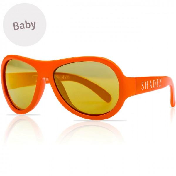 Baby flexible Sonnenbrille 0-3 Jahre uni orange polarisiert