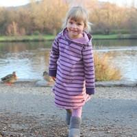 Vorschau: Warmes Sweat Kleid langarm mit Kapuze