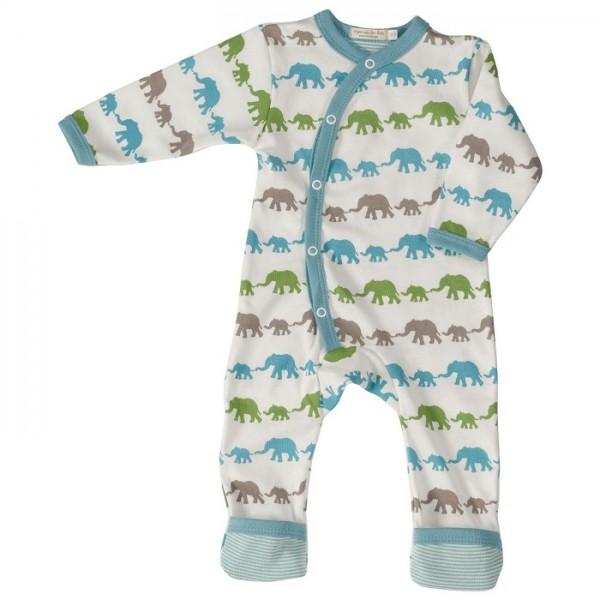 Mitwachsender Strampler Fuß Umschlagbündchen Elefant