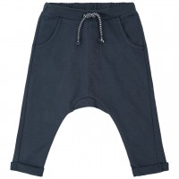 Lockere Sweat Babyhose in navy