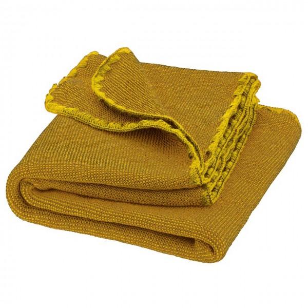 Babydecke Wolle Melange gold 80 x 100 cm