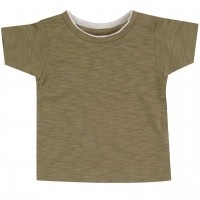 Uni Shirt kurzarm oliv-grün