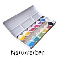 ökoNorm großer Wasserfarbkasten mit 12 Farben - vegan