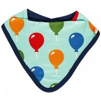 Leichtes großes Dreiecktuch Ballon blau 26x23 cm