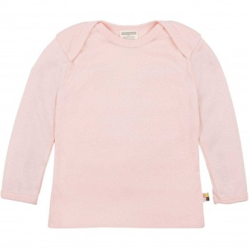 Leichtes Ripp Shirt langarm in rosa