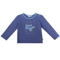 Süsses Babyshirt Bär Aufnäher flieder pastellblau