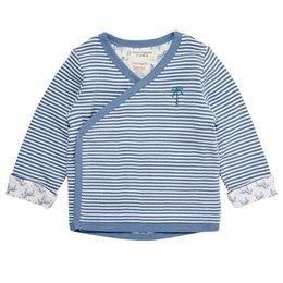 Baby Wickeljacke zum Wenden - kuschelig weich - blau