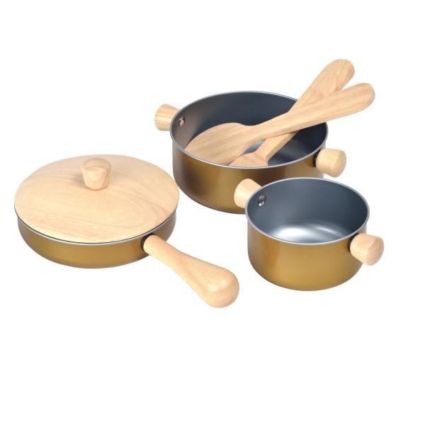 Kinder Kochgeschirr Töpfe und Pfanne Kinderküche