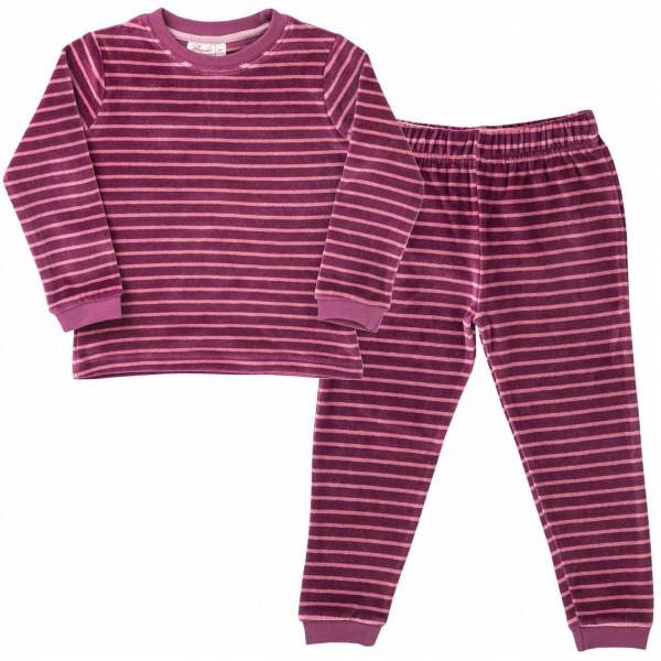 Mädchen Schlafanzug Nicki Ringel beere