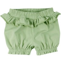 Leichte Mädchen Pumphose mit Rüschen in hellem grün