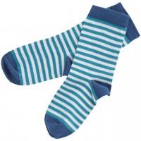 Kinder Socken geringelt türkis