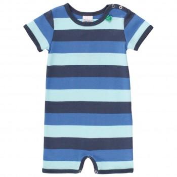 Jungen Beachbody breite Streifen Blautöne