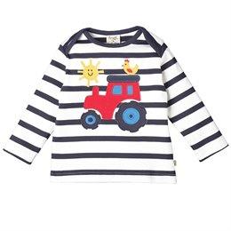 Weiches griffiges Traktor Shirt langarm mit Schlupfkragen