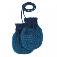 Baby Strickhandschuhe aus Schurwolle marine