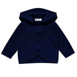Baby Kapuzen Strickjacke super edel und schick- neutral navy