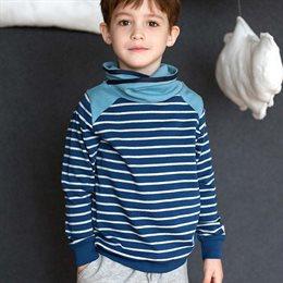 Cooler Pullover mit Kragen petrol