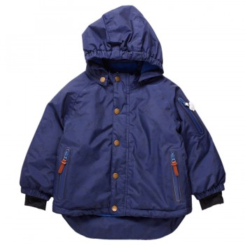 Warme Kinder Winterjacke navy