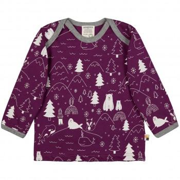 Winterwald Shirt langarm in lila