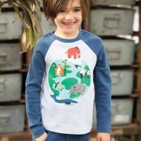 Warmes Interlock Shirt Welt Tiere