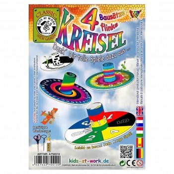 Spielzeug Kreisel Bastelset – 4 Kreisel ab 6 Jahre