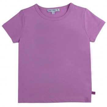 Lavendel Shirt kurzarm uni Basic