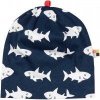 leichte Mütze Fische in dunkelblau