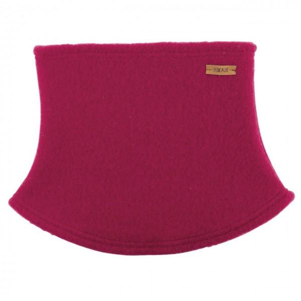 Schlauchschal aus Schurwolle Fleece pink