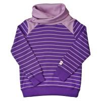 Cooler Pullover mit Kragen lila