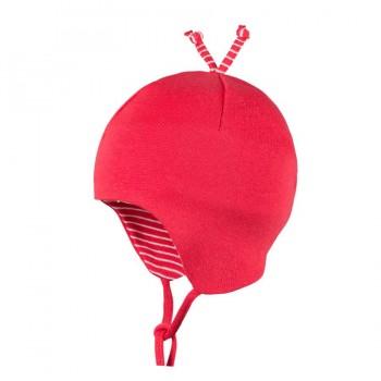 Babymütze leicht für Übergangszeit himbeer-rot