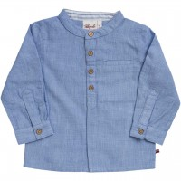 Elegantes Baby Fil-á-Fil Hemd langarm blau