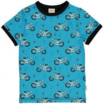 Kurzarmshirt Mopeds in blau