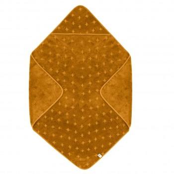 Kapuzenhandtuch senfgelb 100 x 100 cm