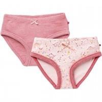 Doppelpack Slips Dinos + rosa meliert