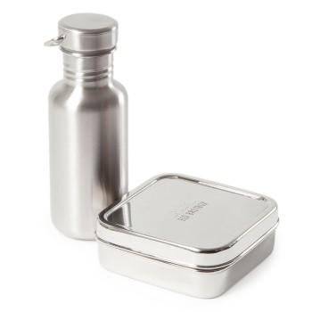 Schulstarter Set ECO Brotbox 13 x 13 cm mit Flasche