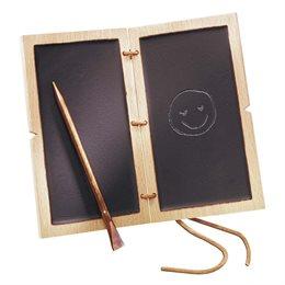 Kindertafel römisches Schreibtäfelchen Wachs 12 x 7 x 1,2 cm