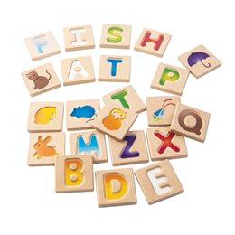 Alphabet A-Z Holzplättchen