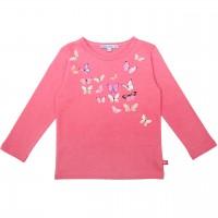 Pinkes Langarmshirt mit Schmetterlings Druck
