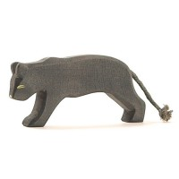 Panther Holztier 6 cm hoch