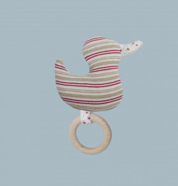 Greifling Ente mit naturbelassenem Holsring
