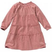 Langarmkleid mit kleinen Beeren rosa