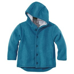 Übergangsjacke atmungsaktive Wolle blau